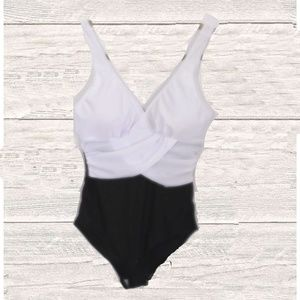 Other - NWT BLACK/WHITE  ONE PIECE SWIMSUIT